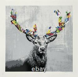 Martin Whatson The Stag Main Ed Of 275 Limited Edition Print Sold Out