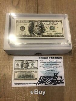 Matt Gondek $100 Bill Complexcon 2018 #86/300 Sold Out Complexcon Exclusive