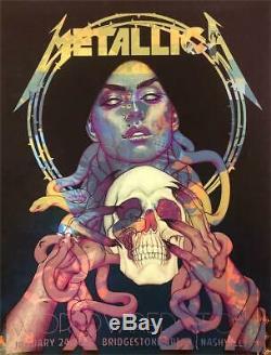 Metallica Nashville TN 1/24/19 Poster Jenny Frison Test Print Rare Sold Out AP