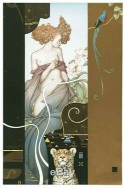 Michael Parkes The Garden Stone Lithograph, Sold out Edition