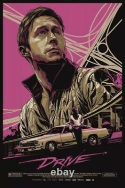 Mondo DRIVE Rare Sold Out ORIGINAL Gosling Ken Taylor Alamo Drafthouse LikeNew