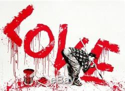 Mr. Brainwash ALL YOU NEED IS LOVE (RED) Hand Finished, Signed, Sold Out