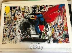 Mr Brainwash Rare SOLD OUT Batman vs Superman Kaws Koons Banksy Urban Art Print