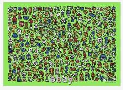 Mr Doodle. Ltd Edition'Alien Town' Print. Edition 300 Sold Out, Receipt in Hand