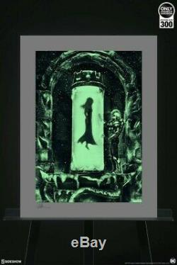 Mr. Freeze Heart of Ice Art Print Sideshow Collectibles (Glows) LIMITED SOLDOUT