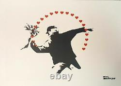 Mrs. Banksy Flower Thrower (Love) signed spray paint PRINT 2019 ED 250 SOLD OUT