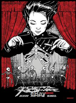 My Chemical Romance RETURN Poster Shrine Auditorium Los Angeles XRAY SOLD OUT