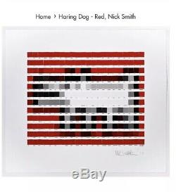 Nick Smith Haring Dog Red Limited Edition Print 66 Signed Sold Out