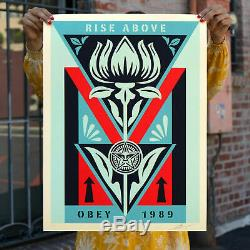 Obey Giant Shepard Fairey Print Deco Flower Black Poster Edition S/N Sold Out