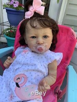 Ooak Reborn newborn baby Girl reborn baby Saskia Art Doll SOLD OUT