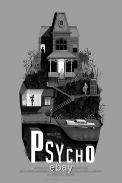 Psycho by Adam Simpson Rare Sold out Mondo print