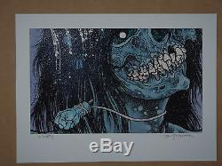 Pushead Metallica St. Anger Blue Blizzard signed art print poster sold out