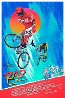 RAD BMX Mondo Poster Screen Print Vinegar Syndrome SOLD OUT 1986 Harrison Movie