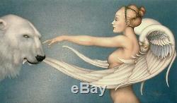 RARE Michael Parkes POLAR WINGS s/n LE retail$3000 SOLDOUT MINT polar bear angel