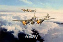 ROBERT TAYLOR Lightning Strike P-38 SOLD OUT RARE 4 Signatures PRICE REDUCED