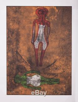 Rufino Tamayo Two Figures Dos Figuras de la Serie Sold Out, Signed Limited Ed