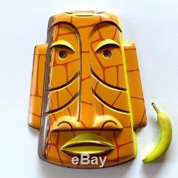 SHAG Sold Out! THE CRAG Rare Huge TIKI WALL MASK Art Painting LIMITED EDITION