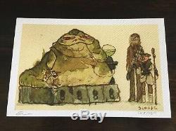 Scott C Campbell Great Showdowns Print Jabba The Hutt SOLD OUT! ROTJ Star Wars