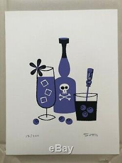 Shag Josh Agle Cocktail Collection Set of 12 Serigraphs #13/200 Sold Out Prints