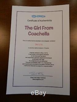Shag Josh Agle Girl from Coachella Serigraph # 39/175 Sold Out Print
