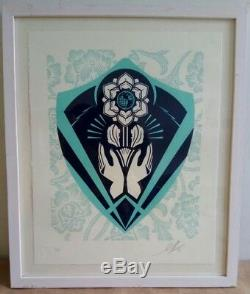 Shepard Fairey Obey Giant Respect And Justice Letterpress S&n Framed! Sold Out
