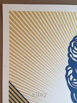 Shepard Fairey Print S/N Obey Holiday Edition Poster Sold Out Kaws Banksy FAILE