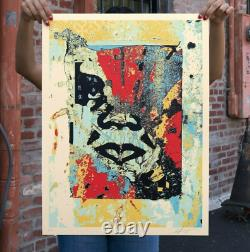 Shepard Fairey Red Enhanced Disintegration Print Obey Giant X/350 2019 Sold Out
