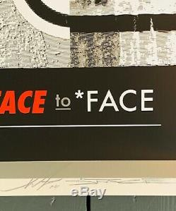 Shepard Fairey X Dface Face To Face Signed & Numbered Sold Out Obey