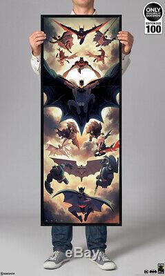 Sideshow Batman Mondo SIGNED art print Poster Huge 16x35.5 SOLD OUT xx/400 RARE