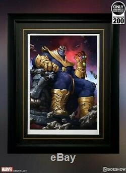 Sideshow Exclusive Thanos On Throne Variant Art Print 1/200 Low Number Sold Out