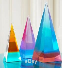 Sold Out New Jonathan Adler Neo Geo Obelisk Blue Purple Acrylic Modern Sculpture