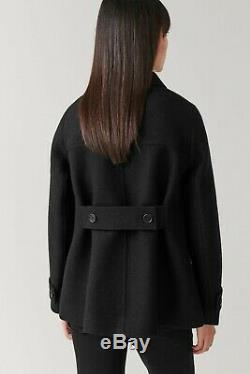 Sold out COS Boiled Wool Jacket/Coat in black. UK6, EU32 BNWT. Minimal, arket, acne