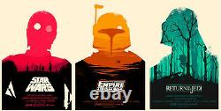 Star wars by Olly Moss Set of 3 prints matching numbers Sold out Mondo Print