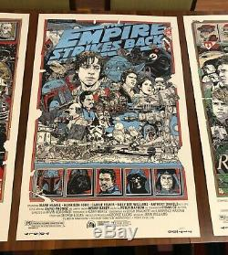 Star wars by Tyler Stout Rare Sold out Mondo set of 3 prints Regular