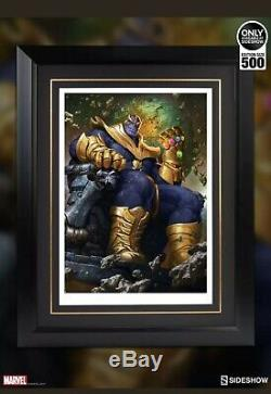 Thanos on Throne Variant Art Print by Sideshow Collectibles FRAMED Sold Out