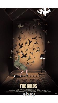 The Birds by Adam Simpson Variant Rare Sold Out Mondo Print Hitchcock xx/150