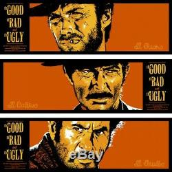 The good, the bad the ugly by Bill Perkins Tiptych set -Sold out Mondo Print