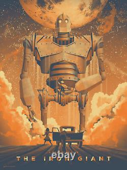 The iron giant by DKNG Signed Artist Proof Rare sold out Mondo print