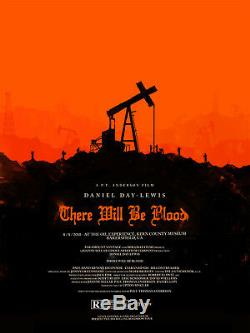 There will be blood by Olly Moss Rare sold out Mondo print