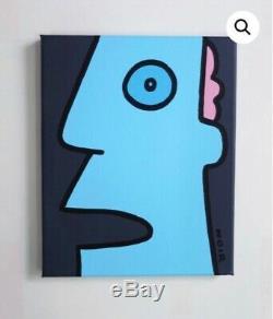 Thierry Noir Classic Head Signature Original Signed Acrylic Canvas SOLD OUT Stik