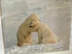 Thomas Mangelsen Polar Bear Hug -Signed/Framed by Gallery SOLD OUT