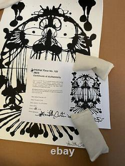 Timothy Curtis Inkblot Face No. 105 signed and numbered out of 28 prints SOLD OUT