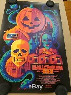 Tom Whalen Halloween 3 Variant Movie Print NYCC 2019 Sold out H3 Mint Bottleneck
