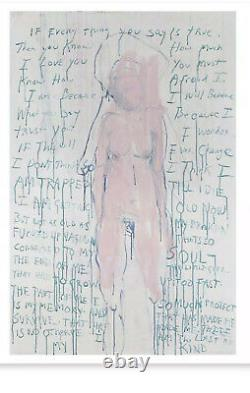 Tracey Emin Print Plate Signed. I am the Last of My Kind. ORIGINAL TUBE SOLD OUT