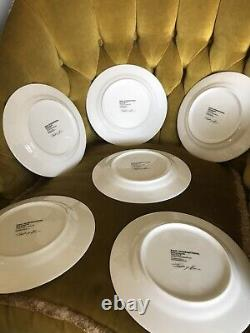 Tracey Emin Set Of Six Sold Out China Plates