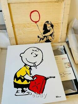 Two Mrs Banksy Signed Original Canvas Charlie Brown Ballerina Not Print Sold Out