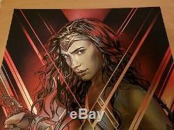Wonder Woman by Martin Ansin Variant Print Poster Sold Out Bottleneck