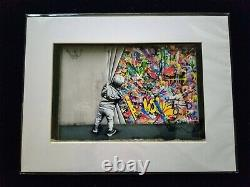 Wynwood Walls Martin Whatson Behind the Curtain Matted Photo Print SOLD OUT coa